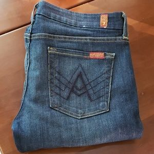 """7 For All Man Kind """"A Pocket"""" Women's Jean's-28x26"""